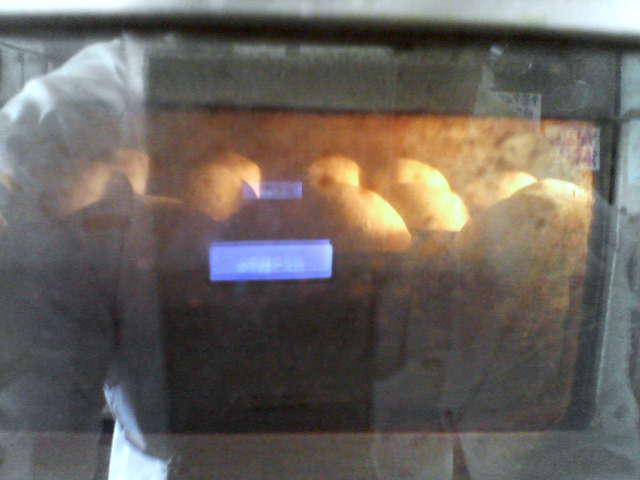 オーブンにIN  しました。