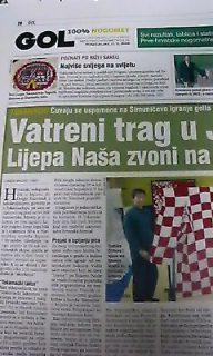 クロアチアの新聞に