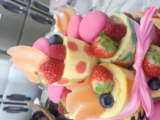 昨日のウェディングケーキ